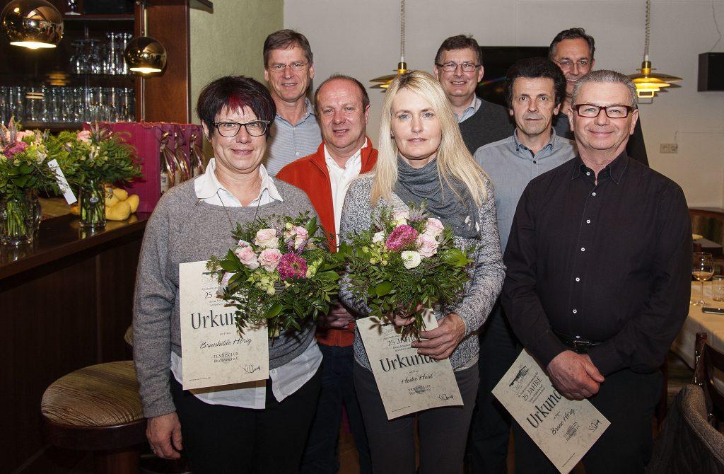 von links: Brunhilde Hörig, Norbert Schirek, Erhard Bemmann, Heike Heid, Uwe Zumbach, Berthold Freydag und Bruno Hörig