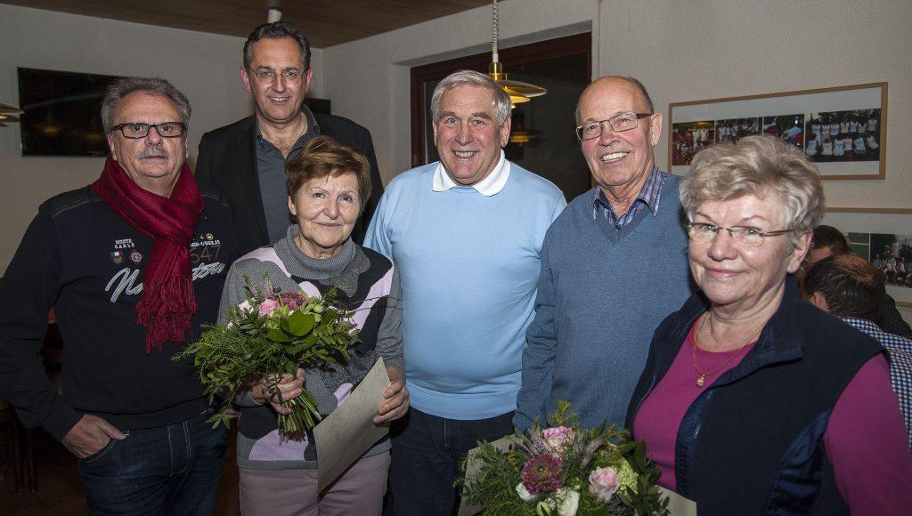 von links: Gerhard Dinger, Monika und Toni Himmelsbach sowie Siegfried und Inge Jokers